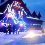 Mazurska chata zimą